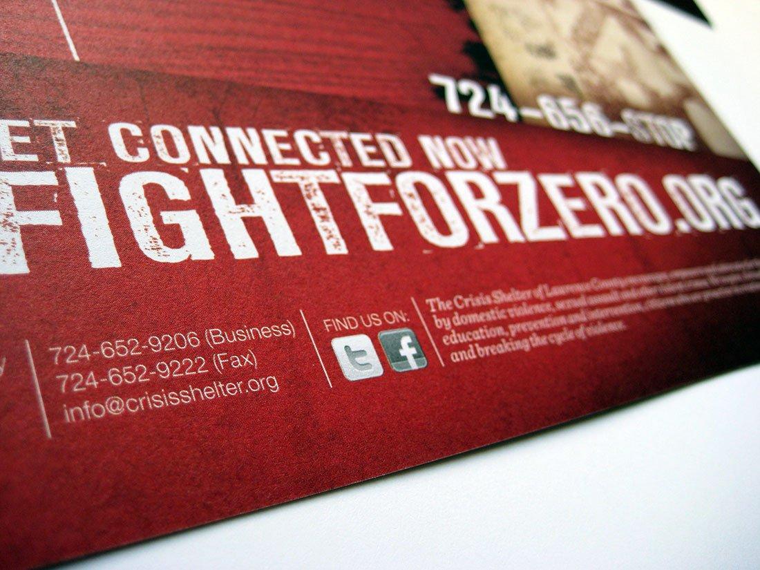 Fight For Zero Postcard Detail